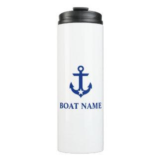 Nautical Boat Name Anchor Star Thermal Tumbler