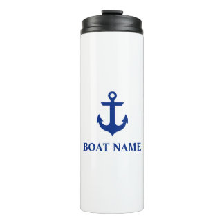 Nautical Boat Name Anchor Thermal Tumbler