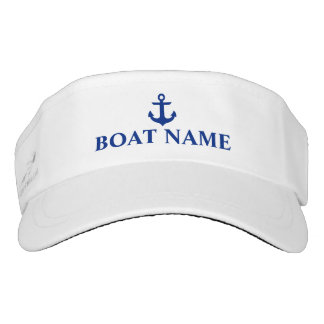 Nautical Boat Name Anchor Visor