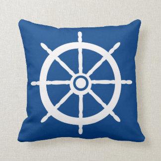 Nautical Boat Wheel Reversible Pillow