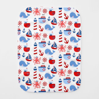 Nautical Burp Cloth