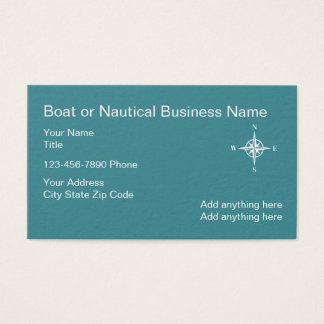 Nautical Business Card Compass