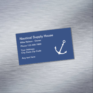 Nautical Business Profile Magnetic Business Card