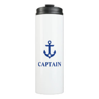 Nautical Captain Anchor Star Thermal Tumbler