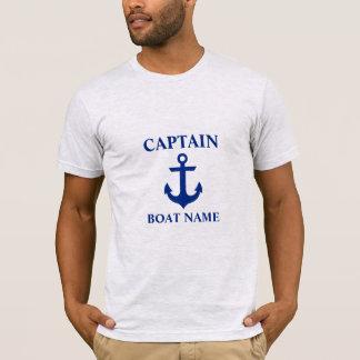 Nautical Captain Boat Name Anchor Gray T-Shirt