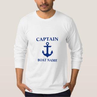 Nautical Captain Boat Name Anchor Long Sleeve T-Shirt