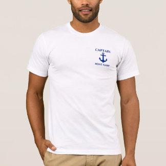 Nautical Captain Boat Name Anchor T-Shirt