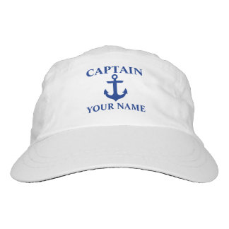 Nautical Captain Name Anchor Headsweats Hat