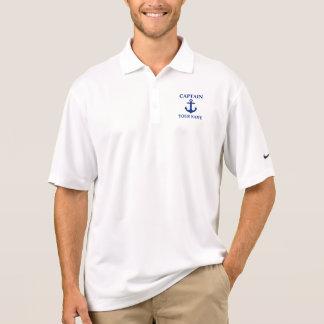 Nautical Captain Name Anchor Polo Nike Shirt
