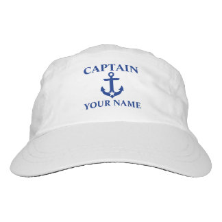 Nautical Captain Name Anchor Star Headsweats Hat