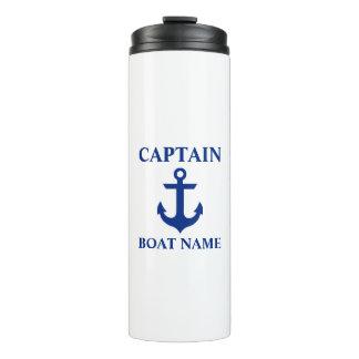 Nautical Captain Name Anchor Thermal Tumbler