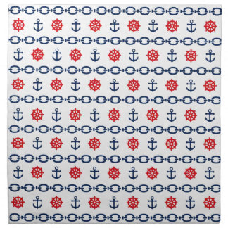 Nautical Chain in Red, White, & Blue Napkin