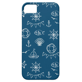 Nautical Chalk Drawing Pattern 2 iPhone 5 Covers
