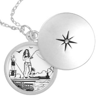 Nautical charm for her silver plated necklace