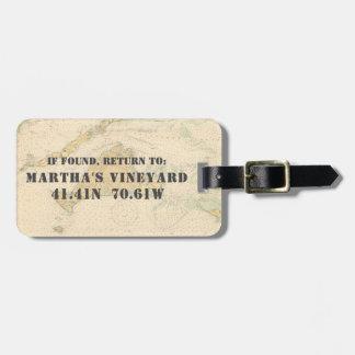 Nautical Chart Circa 1920: Martha's Vineyard Luggage Tag