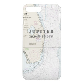 Nautical Chart Latitude Longitude South Florida iPhone 8 Plus/7 Plus Case