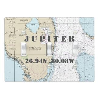 Nautical Chart Latitude Longitude South Florida Light Switch Cover