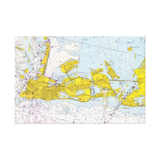 Nautical chart of Key West, Florida Canvas Print