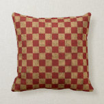Nautical Check in Rustic Red
