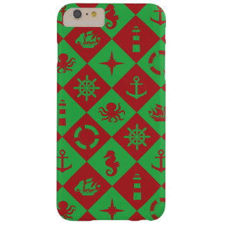 Nautical christmas pattern barely there iPhone 6 plus case