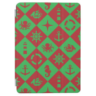 Nautical christmas pattern iPad air cover