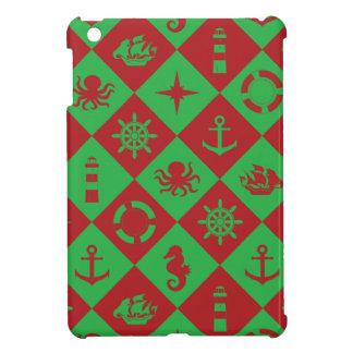 Nautical christmas pattern iPad mini cover