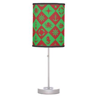 Nautical christmas pattern table lamp