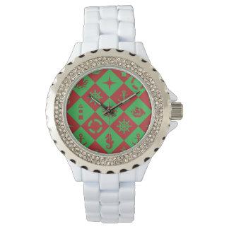 Nautical christmas pattern watch