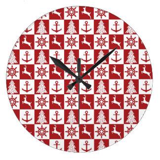 Nautical Christmas Wall Clocks