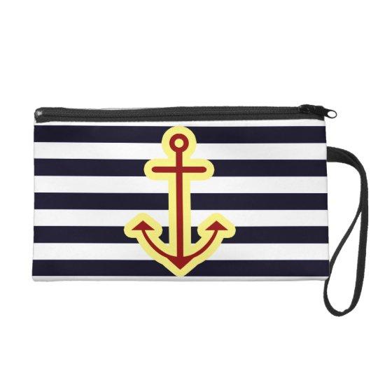 Nautical Classic Anchor Wristlet Clutch