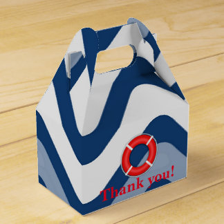Nautical coastal beach sea neutral favor boxes