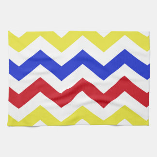 Nautical Colored Zigzag Pattern Kitchen Towel