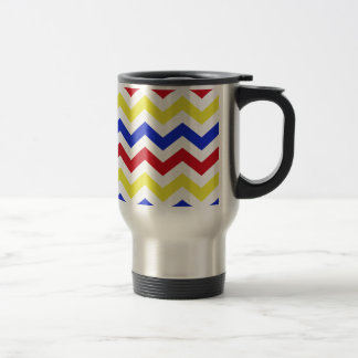Nautical Colored Zigzag Pattern Travel Mug