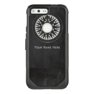 Nautical Compass on Black Chalkboard OtterBox Commuter Google Pixel Case