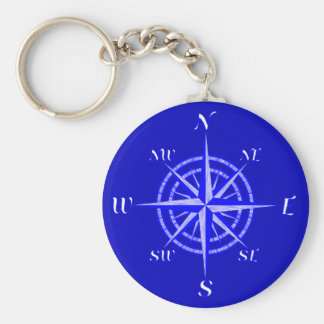 Nautical Compass Rose Keychain