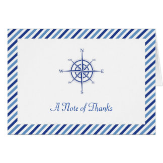 Nautical Compass Thank You Card
