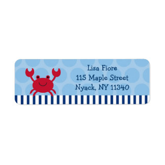 Nautical Crab Address Labels