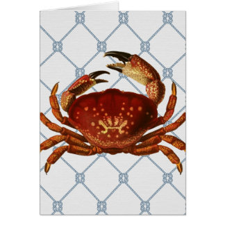 Nautical Crab Card
