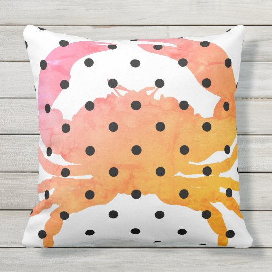 Nautical_Crab -Sunny-Dot's_ Outdoor Pillow