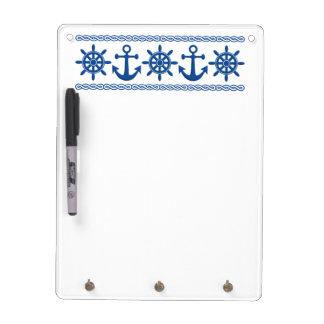 Nautical custom message board dry erase board