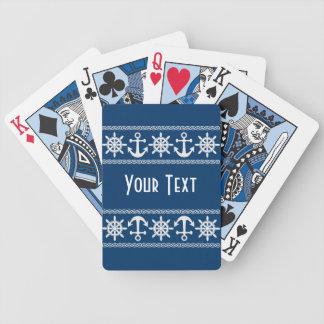 Nautical custom playing cards