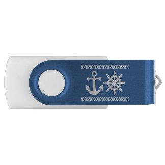 Nautical custom text & color USB flash drives