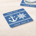 Nautical custom text & colour coasters
