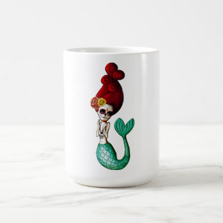 Nautical Day of The Dead Mermaid Coffee Mug