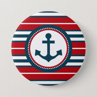 Nautical design 3 inch round button