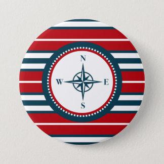 Nautical design 3 inch round button