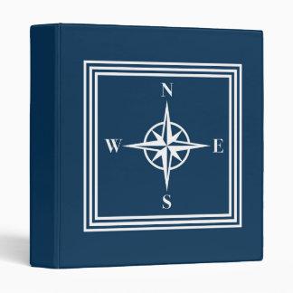 Nautical design 3 ring binder