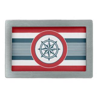 Nautical design belt buckle
