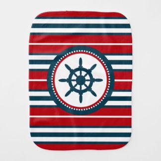 Nautical design burp cloth