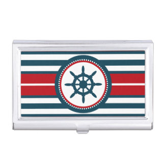 Nautical design business card holder